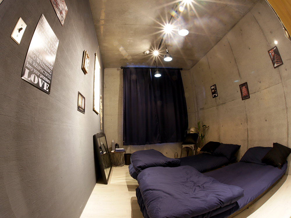 個室のあるゲストハウス